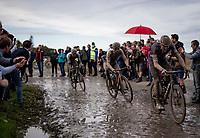Mathieu van der Poel (NED/Alpecin Fenix)<br /> <br /> 118th Paris-Roubaix 2021 (1.UWT)<br /> One day race from Compiègne to Roubaix (FRA) (257.7km)<br /> <br /> ©kramon