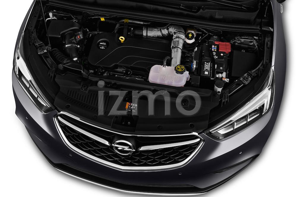 Car Stock 2017 Opel Mokka-X Innovation 5 Door SUV Engine  high angle detail view