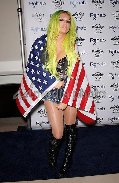 05 July 2015 - Las Vegas, Nevada -  Kesha. Kesha celebrates 4th of July weekend at REHAB at Hard Rock Hotel and Casino.  Photo Credit: MJT/AdMedia