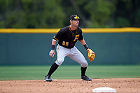 Pittsburgh Pirates Tyler Filliben (66) during a minor league Spring Training game against the Toronto Blue Jays on March 24, 2016 at Pirate City in Bradenton, Florida.  (Mike Janes/Four Seam Images)