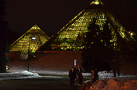 The Muttart Conservatory is spectacular during the day but these images captivate under the soft ambient night lighting too. The varying color filters employed by the atrium add interesting effects also.