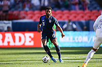 DENVER, CO - JUNE 3: Mark McKenzie #15 of the United States during a game between Honduras and USMNT at Empower Field at Mile High on June 3, 2021 in Denver, Colorado.