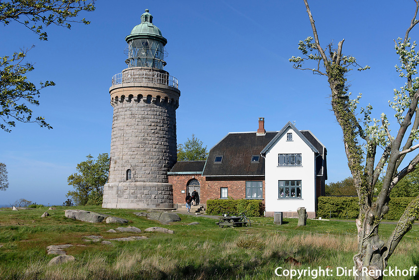 Leuchtturm Hammer Fyr auf der Halbinsel Hammeren, Insel Bornholm, Dänemark, Europa<br /> Lighthouse Hammer Fyr, peninsula Hammeren, Isle of Bornholm, Denmark