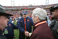 Virginia's plays during the 33-21 loss to Virginia Tech in Charlottesville, VA. Photo/Andrew Shurtleff