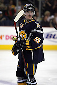 February 17th 2007:  Jochen Hecht (55) of the Buffalo Sabres looks to the bench vs. the Boston Bruins at HSBC Arena in Buffalo, NY.  The Bruins defeated the Sabres 4-3 in a shootout.