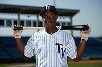Tampa Yankees shortstop Jorge Mateo (14) poses for a photo before a game against the Bradenton Marauders on April 12, 2016 at George M. Steinbrenner Field in Tampa, Florida.  Tampa defeated Bradenton 9-3.  (Mike Janes/Four Seam Images)