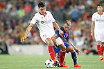 FC Barcelona's Lucas Digne (r) and Sevilla FC's Diego Gonzalez during Supercup of Spain 2nd match.August 17,2016. (ALTERPHOTOS/Acero)