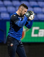 Bolton Wanderers' goalkeeper/coach Matthew Gilks warming up before the match  <br /> <br /> Photographer Andrew Kearns/CameraSport<br /> <br /> The EFL Sky Bet League Two - Bolton Wanderers v Salford City - Friday 13th November 2020 - University of Bolton Stadium - Bolton<br /> <br /> World Copyright © 2020 CameraSport. All rights reserved. 43 Linden Ave. Countesthorpe. Leicester. England. LE8 5PG - Tel: +44 (0) 116 277 4147 - admin@camerasport.com - www.camerasport.com