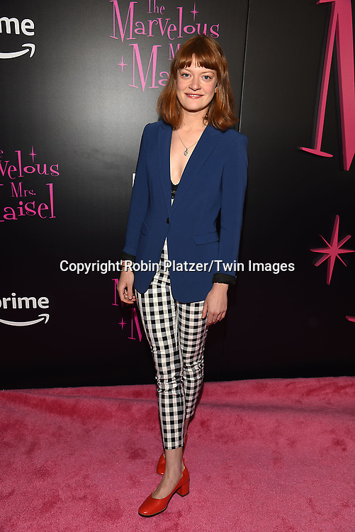 """actressColby Minifie attends the New York Premier of  Amazon Prime Exclusive Series """"The Marvelous Mrs. Maisel"""" on November 13, 2017 at Village East Cinema in New York City, New York, USA.<br /> <br /> photo by Robin Platzer/Twin Images<br />  <br /> phone number 212-935-0770"""