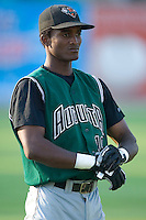 Augusta's Eugenio Velez gets ready prior to the start of the game versus the Kannapolis Intimidators at Fieldcrest Cannon Stadium in Kannapolis, NC, Saturday, June 17, 2006.