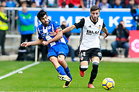 Deportivo Alaves' Manu Garcia (l) and Valencia CF's Jose Luis Gaya during La Liga match. October 28,2017. (ALTERPHOTOS/Acero) /NortePhoto.com