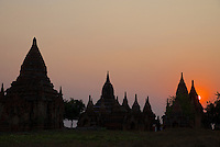 Ancient ruins and Stupas of Bagan, Myanmar, Burma