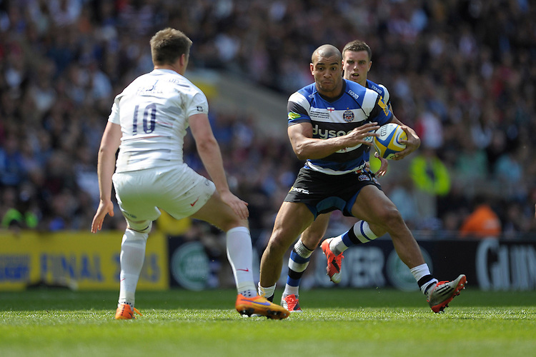 Jonathan Joseph of Bath Rugby in action during the Aviva Premiership Rugby Final at Twickenham Stadium on Saturday 30th May 2015 (Photo by Rob Munro)