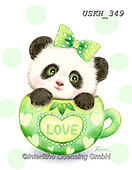 Kayomi, CUTE ANIMALS, LUSTIGE TIERE, ANIMALITOS DIVERTIDOS, paintings+++++,USKH349,#ac#, EVERYDAY ,sticker,stickers,panda