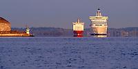 Viking and Silja Mirage .Oskar-Fredriksborg, Sweden