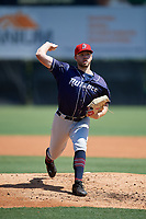 Binghamton Rumble Ponies starting pitcher Tommy Wilson (3) during an Eastern League game against the Bowie Baysox on August 21, 2019 at Prince George's Stadium in Bowie, Maryland.  Bowie defeated Binghamton 7-6 in ten innings.  (Mike Janes/Four Seam Images)