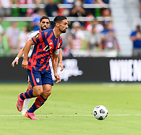 AUSTIN, TX - JULY 29: Sebastian LLetget #17 of the United States looks to pass the ball during a game between Qatar and USMNT at Q2 Stadium on July 29, 2021 in Austin, Texas.