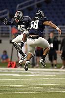 SAN ANTONIO, TX - NOVEMBER 18, 2010: The University of Texas at San Antonio Roadrunners Football team holds their final scrimmage of the 2010 season at the Alamodome. (Photo by Jeff Huehn)