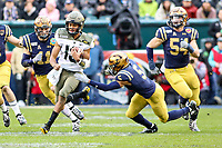Philadelphia, PA - December 14, 2019:    Army Black Knights quarterback Christian Anderson (13) runs the ball during the 120th game between Army vs Navy at Lincoln Financial Field in Philadelphia, PA. (Photo by Elliott Brown/Media Images International)