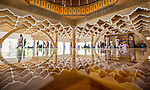 Reflective floor in the most domed mosque in world by Azim Khan Ronnie