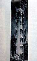 Helmut Jahn: Houston Tower Drawing. (Unbuilt)