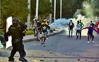 SANTA MARTA- COLOMBIA, 05-05-2021: Paro Nacional. / the second National Strike. Photo: VizzorImage / Gustavo Pacheco / Contribuidor