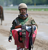 Tough day at the office for jockey Maylan Studart.