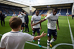 Preston North End 1 Reading 0, 19/08/2017. Deepdale, Championship. Home players making their way from the pitch after the match after Preston North End took on Reading in an EFL Championship match at Deepdale. The home team won the match 1-0, Jordan Hughill scoring the only goal after 22nd minutes, watched by a crowd of 11,174.Photo by Colin McPherson.