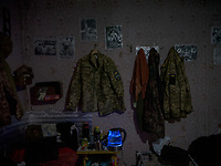 A soldier's room in a military base near Pisky.