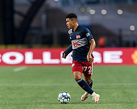 FOXBOROUGH, MA - AUGUST 21: Damian Rivera #72 of New England Revolution II looks to pass during a game between Richmond Kickers and New England Revolution II at Gillette Stadium on August 21, 2020 in Foxborough, Massachusetts.