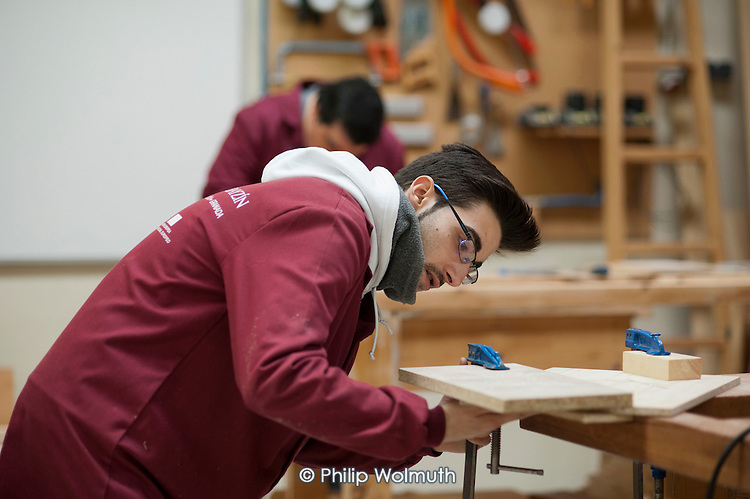 Carpentry and joinery workshop at the Centro Albayzin (the Andalucian School of Restoration), which is funded by the European Social Fund, the City of Granada and the province of Andalucia to provide training in traditional construction skills for registered unemployed people aged between 16 and 30.  Andalucia has the highest unemployment rate in Spain; over 50% of under-25s are jobless.