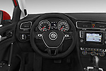 Car pictures of steering wheel view of a 2015 Volkswagen Golf Highline 5 Door Wagon 2WD Steering Wheel