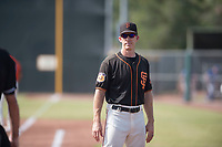 San Francisco Giants coach Bill Horton (14) before an Instructional League game against the Kansas City Royals at the Giants Training Complex on October 17, 2017 in Scottsdale, Arizona. (Zachary Lucy/Four Seam Images)