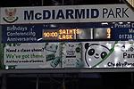 St Johnstone v Lask…26.08.21  McDiarmid Park    Europa Conference League Qualifier<br />The final score at McDiarmid Park, saints losing 2-0 to Lask<br />Picture by Graeme Hart.<br />Copyright Perthshire Picture Agency<br />Tel: 01738 623350  Mobile: 07990 594431