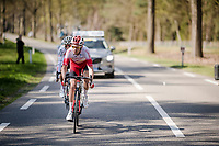 Kenneth Vanbilsen (BEL/Cofidis) & Dries De Bondt (BEL/Corendon-Circus) up front<br /> <br /> 107th Scheldeprijs (1.HC)<br /> One day race from Terneuzen (NED) to Schoten (BEL): 202km<br /> <br /> ©kramon