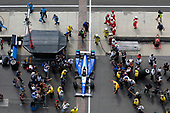 Verizon IndyCar Series<br /> Indianapolis 500 Race<br /> Indianapolis Motor Speedway, Indianapolis, IN USA<br /> Sunday 28 May 2017<br /> Takuma Sato, Andretti Autosport Honda drives into victory lane<br /> World Copyright: Russell LaBounty<br /> LAT Images