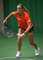29-1-10, Almere, Tennis, Training Fedcup team, Arantxa Rus,