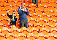 Blackpool fans celebrate their sides win<br /> <br /> Photographer Kevin Barnes/CameraSport<br /> <br /> Football - The EFL Sky Bet League Two - Blackpool v Exeter City - Saturday 6th August 2016 - Bloomfield Road - Blackpool<br /> <br /> World Copyright © 2016 CameraSport. All rights reserved. 43 Linden Ave. Countesthorpe. Leicester. England. LE8 5PG - Tel: +44 (0) 116 277 4147 - admin@camerasport.com - www.camerasport.com