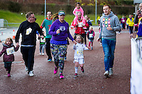 Swansea City FC Supporters Trust Fun Run at the Liberty Stadium. Monday 28 March 2016