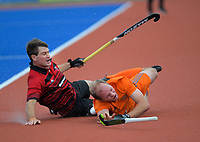 Action from the 2019 Men's National Hockey League match between Bayleys Midlands and Canterbury Cavaliers at Blake Park in Mount Maunganui, New Zealand on Saturday, 14 September 2019. Photo: Dave Lintott / lintottphoto.co.nz