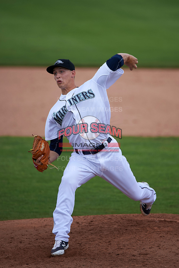 Peoria Javelinas pitcher Ryan Horstman (63) delivers a pitch during an Arizona Fall League game against the Mesa Solar Sox on October 21, 2015 at Peoria Stadium in Peoria, Arizona.  Peoria defeated Mesa 5-3.  (Mike Janes/Four Seam Images)