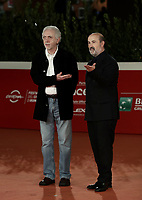 "Spanish director Fernando Trueba and Spanish actor Javier Camara pose on the red carpet for the screening of the film ""El olvido que seremos"" during the 15th Rome Film Festival (Festa del Cinema di Roma) at the Auditorium Parco della Musica in Rome on October 22, 2020.<br /> UPDATE IMAGES PRESS/Isabella Bonotto"