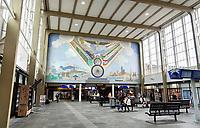 Nederland  Amsterdam - 2020.    Interieur van station Amsterdam Amstel.   Foto : ANP/ Hollandse Hoogte / Berlinda van Dam