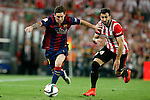 Athletic de Bilbao's Mikel Balenziaga (r) and FC Barcelona's Leo Messi during Spanish King's Cup Final match. May 30,2015. (ALTERPHOTOS/Acero)