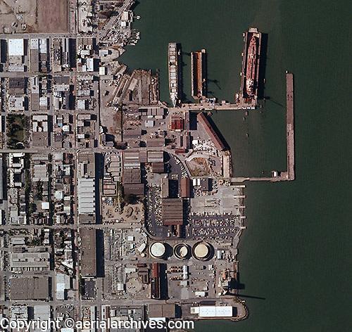 aerial photo map Pier 70 San Francisco, California