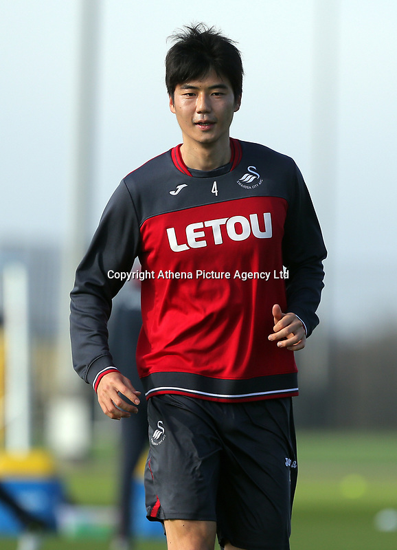 Ki Sung-Yueng in action during the Swansea City Training at The Fairwood Training Ground, Swansea, Wales, UK. Wednesday 01 November 2017