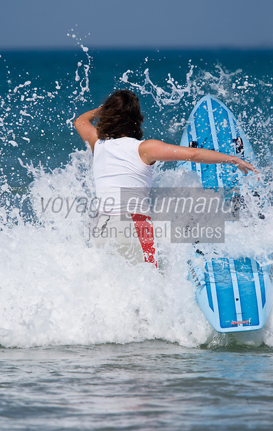 Europe/France/Aquitaine/40/Landes/ Capbreton: Stéphanie Barneix championne du monde de paddleboard