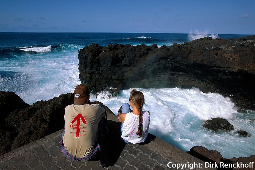 Spanien, Kanarische Inseln, La Palma, Piscinas natural. La Fajana bei Barlovento