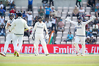 India successfully appeal for the wicket of Devon Conway, New Zealand LBW to Ravichandran Ashwin, India during India vs New Zealand, ICC World Test Championship Final Cricket at The Hampshire Bowl on 23rd June 2021