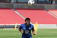 SANDY, UT - JUNE 8: Mark McKenzie of the United States during a training session at Rio Tinto Stadium on June 8, 2021 in Sandy, Utah.